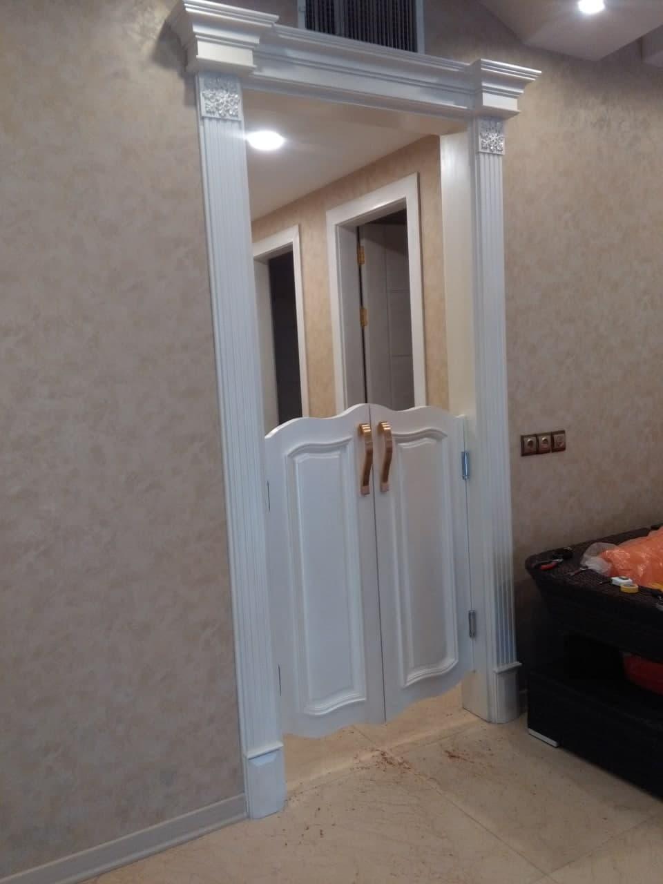 درب بادبزنی چوبی