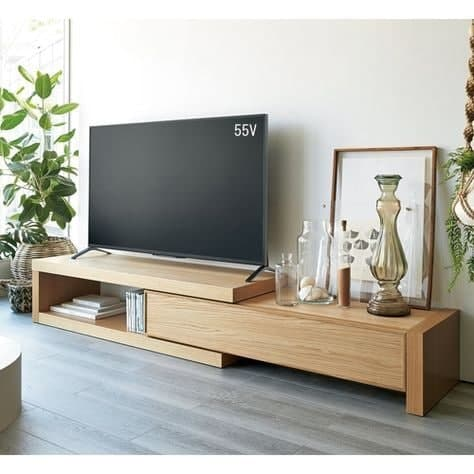 میز تلویزیون MDF قابل تنظیم پازل دکور